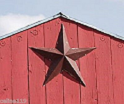 "LARGE 21""  5 Point  New Barn STAR Rustic Decor Tin/Metal Star On Sale."