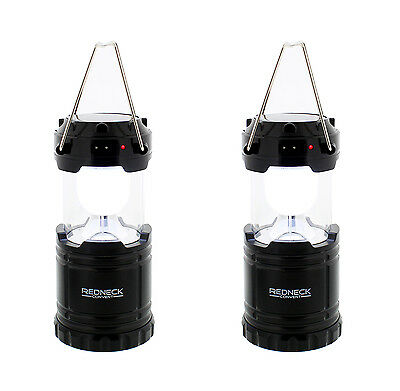 LED Lantern 2-Pack Portable Solar-Powered Water-Resistant Outdoor Light