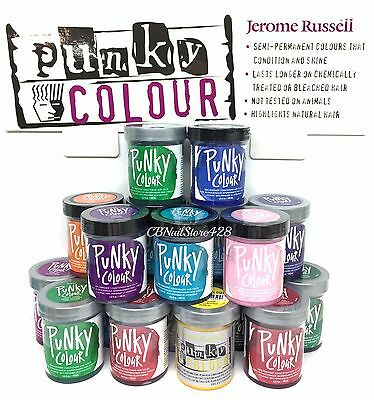 Jerome Russell - PUNKY COLOR - Semi Permanent Hair Color 3.5oz ! Pick your color