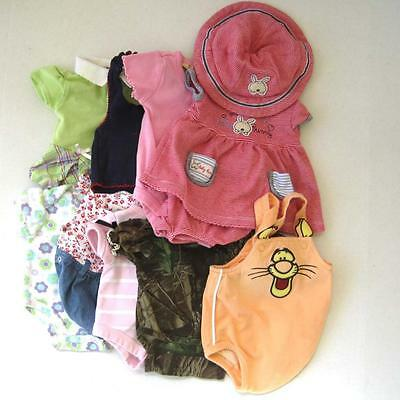 Lot of Baby Girl Preemie Summer Outfits Bodysuits 12 Pieces Cotton