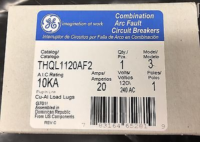 10 New GE THQL1120AF2 20A 120/240V 1P AFCI Combo Plug-In Circuit Breaker