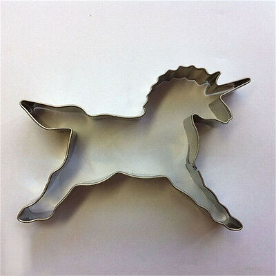 Unicorn Cookies Cutter Mold Cake Decorating Biscuit Pastry Baking Mould hc