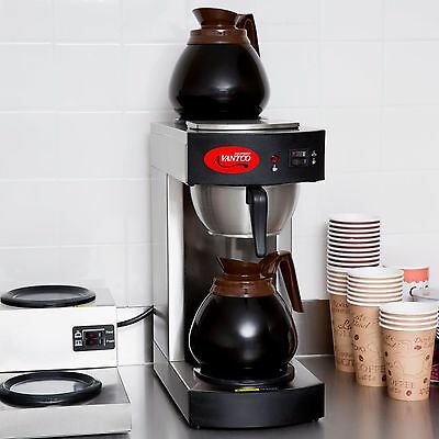 177C10 12 Cup Pourover Commercial Coffee Maker Brewer Dispenser with 2 warmers