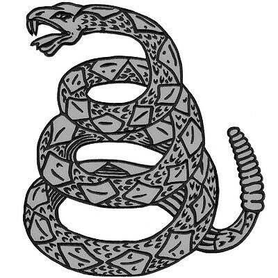 Vegasbee® Large Rattle Snake Gadsden Flag Reflective Embroidered Iron-On Patch