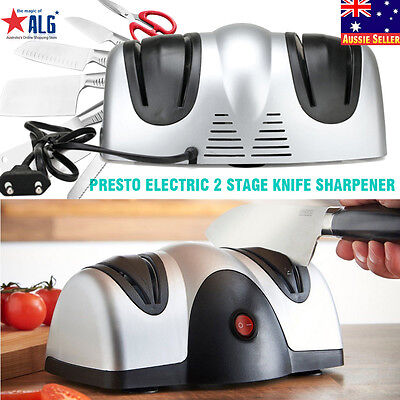 Presto Electric 2 Stage Knife Sharpener. Professional Kitchen Razor Sharp Pro