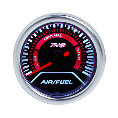 "AU 52mm 2"" Universal LED AFR Air Fuel Ratio Gauge Smoked Lens Car Vehicle Meter"