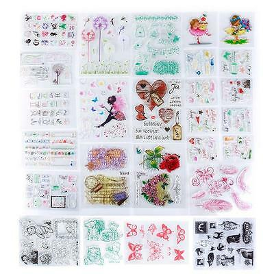 DIY Transparent Silicone Rubber Stamps Clear Cling Sheet Scrapbooking Crafts