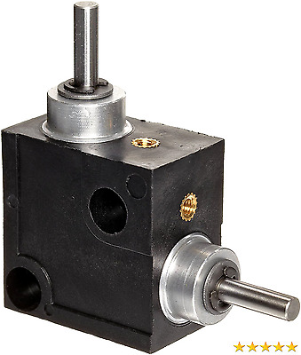 Huco 333.31.3.Z Size 31 L-Box Miniature Right Angle Gearbox, Acetal Case with A