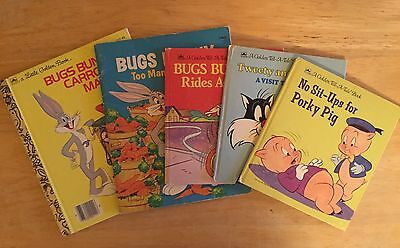Lot of 5 Looney Tunes Books Bugs Bunny Tweety Sylvester Porky Pig