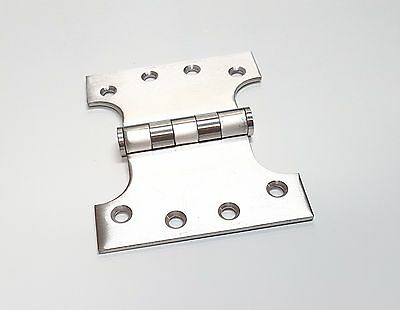 PARLIAMENT HINGES SOLID STAINLESS STEEL 3mm THICK 100X125mm