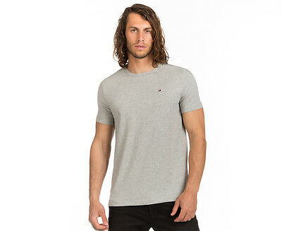 Tommy Hilfiger Men's Flag Crew Tee - Grey Heather