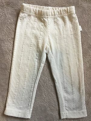 PUMPKIN PATCH white Size 0 Cute Textured Leggings EUC. 10 Items = $5 Post