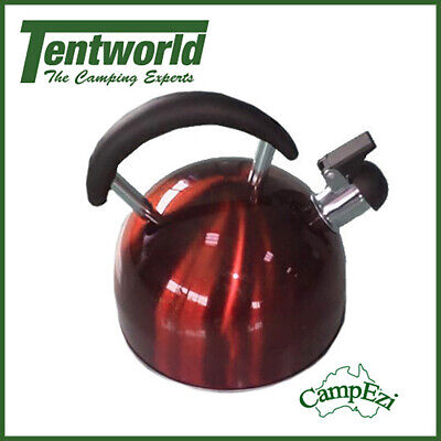 CampEzi Stainless Steel 2.5L Kettle Red