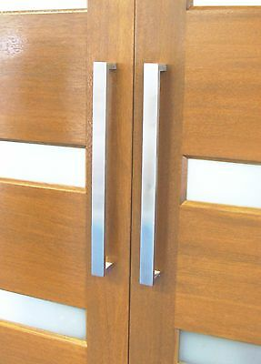 Square Front / Entry Door Back To Back Pull Handles In Various Sizes, Stainless