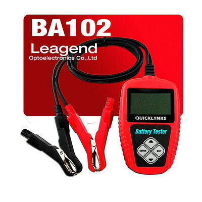 QUICKLYNKS BA102 Motorcycle Battery Tester OBD2 Car Battery Life Analyzer Tool