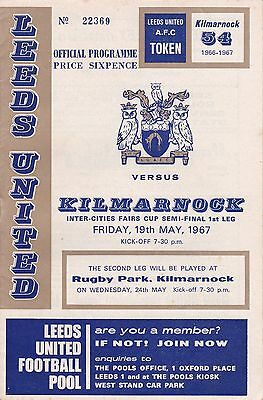 LEEDS UNITED v KILMARNOCK ~ FAIRS CUP SEMI FINAL ~ 19 MAY 1967 (2) ~ EXCELLENT