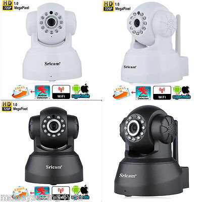 Inalámbrico 720P IP CAMARA WIFI  MOTORIZADA VISION NOCTURNA VIDEO CAMERA CMOS