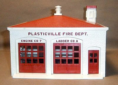 Vintage O/S Scale Plasticville #1607 Fire House - GUC