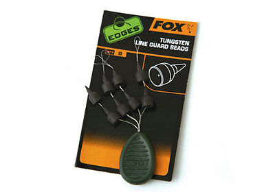 Fox NEW Edges Tungsten Line Guard Beads Fishing Rig Set Up - CAC671