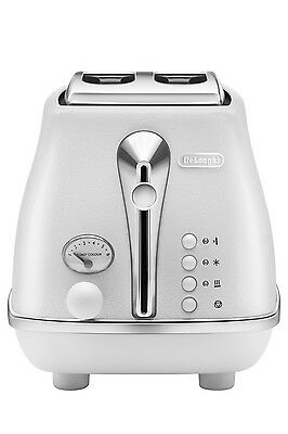 NEW Delonghi Icona Elements 2 Slice Toaster CTOE2003W - Cloud White