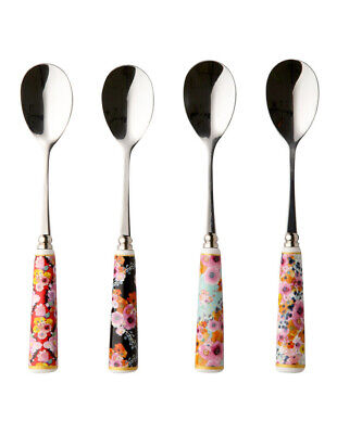 NEW Maxwell & Williams Cashmere Bloems Teaspoon, Set Of 4, Gift Boxed