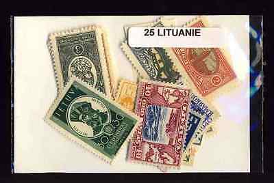 LITUANIE avant 1940-LITHUANIA before 1940collections 25 à 200 timbres différents