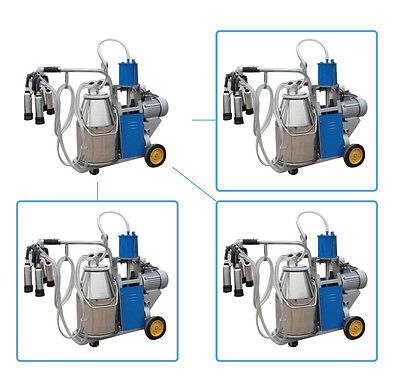 【Canada Seller】110V Portable Milker Electric Milking Machine Dairy For Farm Cow