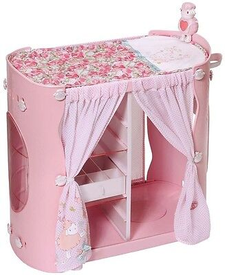 Zapf Creation Baby Annabell 2In1 Baby Wardrobe And Changing Table Furniture Pink