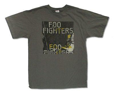 Foo Fighters Guitar Dave Grohl Grey T Shirt New Official Adult
