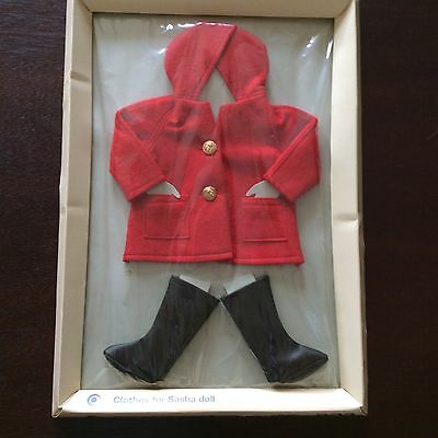 """Sasha doll clothes, """"Duffle"""" Hooded Coat, New Original Packaging Trendon Limited"""