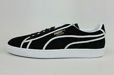 huge discount 347a0 5f009 Puma Suede Courtside Binding Black White Mens Size Retro Shoes 357783-01  1705-11