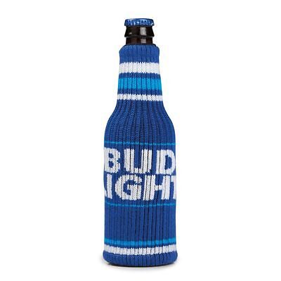 Bud Light Bottle Sweater (1) Blue MultiSize Coozie Beer Koozie FREE SHIPPING