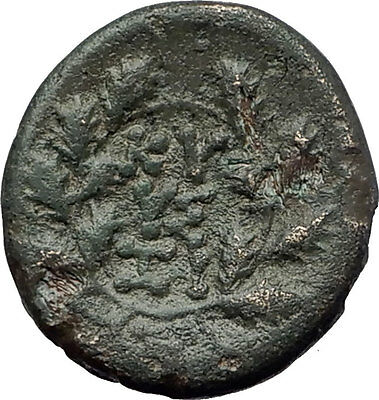 KYZIKOS MYSIA 200BC Kore Persephone Wreath Authentic Ancient Greek Coin   i61312