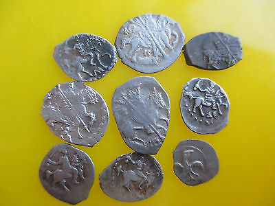 Russia dengа Different types, Ivan IV, Lot of 9 coins