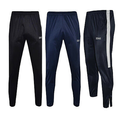 Mens EDGE Slim Fit Polyester Joggers, Tracksuit Bottoms, Track Sweat Jogging