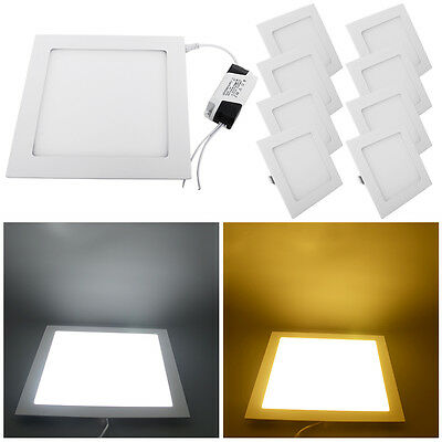 pack of 10 Square LED Recessed Ceiling Panel Down Light 3W 6W 9W 12W 15W 18W 24W