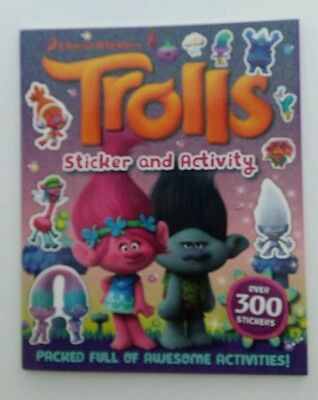 New From The New Dreamworks Trolls Sticker And Activity Book  Brand New