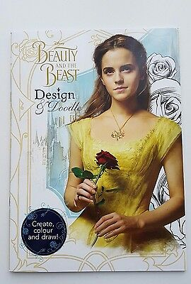 From Disney Beauty And The Beast 2017 Live Film Design & Doodle Book Brand New
