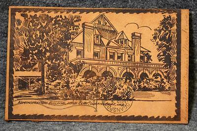 1907 Leather Postcard Administration Building Long Cliff Logansport Indiana