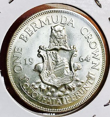 1964 Bermuda Silver Crown. Beautiful Collector Coin For Your Collection