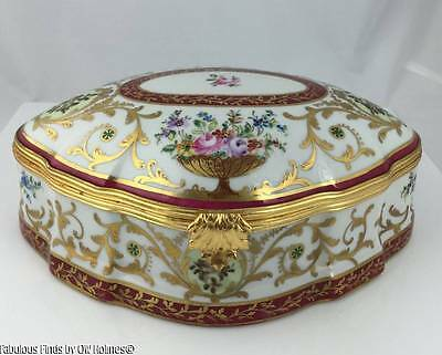 Important Large Le Tallec French Limoges Box Porcelain Museum Quality