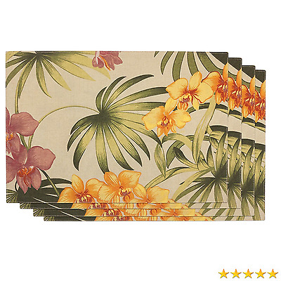 Tommy Bahama African Orchid, Pack of 4 Placemats, Linen