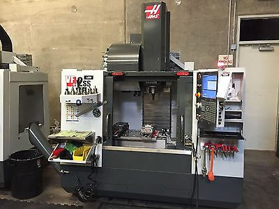 2014 HAAS VF2 SS w/ 4th Axis and Through Coolant LOW HOURS