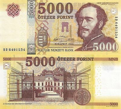 Hungary 5000 Forint (2016)- Prince/Scientists/pNew UNC