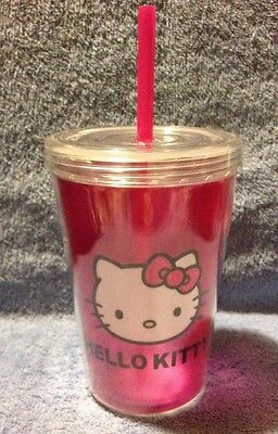 Hello Kitty 13 Oz. Zak Double Walled Travel Tumbler With Straw and Lid New