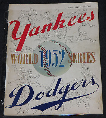 1952 WORLD SERIES YANKEES VS DODGERS PROGRAM Magazine Baseball GD