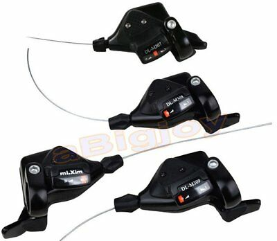 3x7/8S Thumb Shifters 21/24Speed MTB Mountain Bike Shifter Shift Levers w/Cables