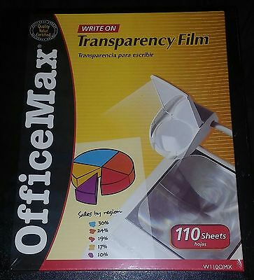 OfficeMax Transparency Film 110 Sheets WII0OMX - NEW - FACTORY WRAPPED