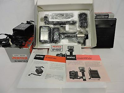 PENTAX AF400T Flash Unit w/ Box Manual Excellent Used  Condition *TESTED*