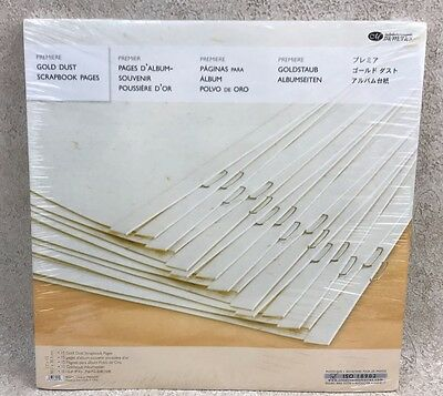Creative Memories 12 x 12 Gold Dust Scrapbook Pages 15 Sheets 2006 Refill New